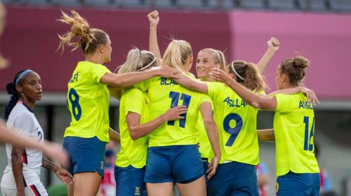 Sweden stuns U.S. women's football team with 3-0 win in Tokyo opener