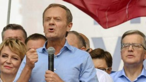 Donald Tusk has taken over as leader of Poland's main opposition party