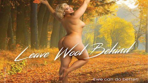 Australian model Stefania Ferrario gets naked nude for Animal rights group Peta.